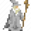 avatar, gandalf, grey, lord, magician, rings, wizard icon