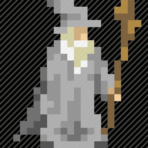 avatar, gandalf, grey, lord, magician, rings, wizard icon