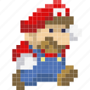 avatar, game, jump, luigi, mario, nintendo, plumber icon