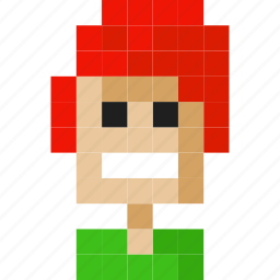 face, girl, hair, happy, male, redhead, women icon