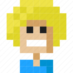blonde, boy, face, hair, happy, head icon