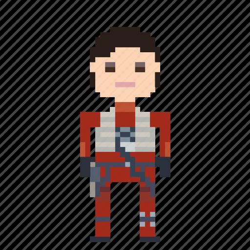 avatar, dameron, man, person, pixels, poe, poe dameron, star wars, starwars icon