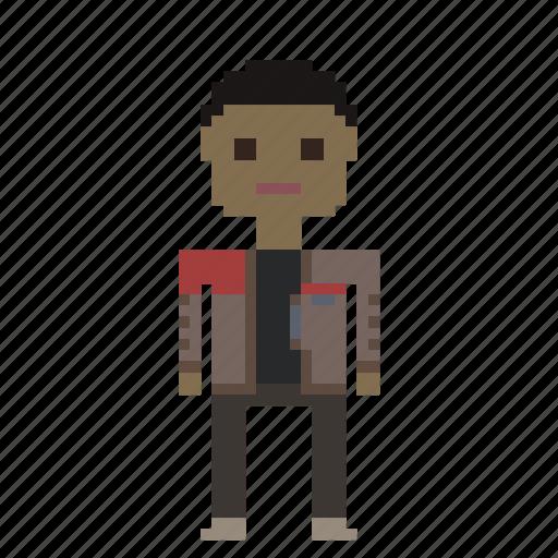 avatar, finn, man, person, pixels, star wars, starwars icon