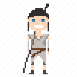 avatar, female, person, pixels, rey, star wars, starwars icon