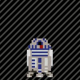 avatar, d2, man, person, pixels, r2, r2 d2, r2d2, star wars, starwars icon