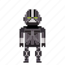 avatar, bionic, cyborg, man, person, pixels, robot icon