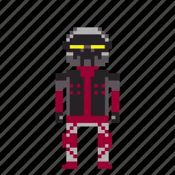 avatar, cyborg, machine robot, man, person, pixels, robot icon