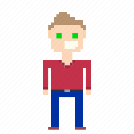avatar, male, man, person, pixels, user icon