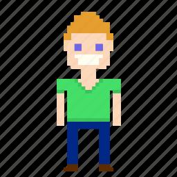 avatar, boy, male, man, person, pixels, user icon