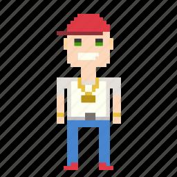boy, man, person, pixels, rapper, user icon
