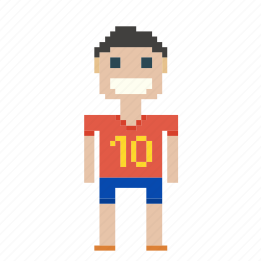 ball, boy, game, man, person, pixels, sport, sportsman, user icon