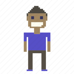 avatar, business, man, person, pixels, profile, user icon