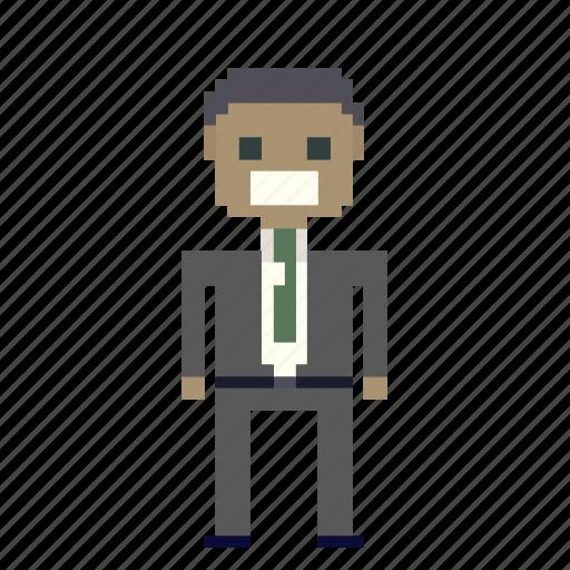 business, man, money, office, person, pixel_art, pixels, suit, user icon