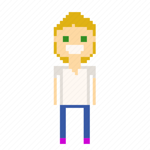 avatar, female, person, pixel_art, pixels, user, woman icon