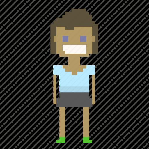 avatar, female, girl, person, pixel_art, pixels, woman icon
