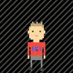 avatar, boy, child, kid, man, person, pixels icon