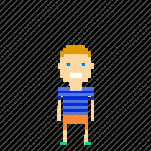 boy, child, kid, male, man, person, pixels icon
