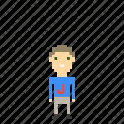 boy, child, kid, man, person, pixel_art, pixels icon