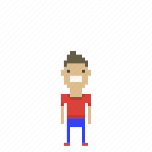 avatar, boy, child, kid, male, man, person, pixels icon