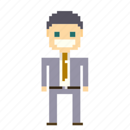 business, businessman, male, man, manager, marketing, person, pixels, suit icon