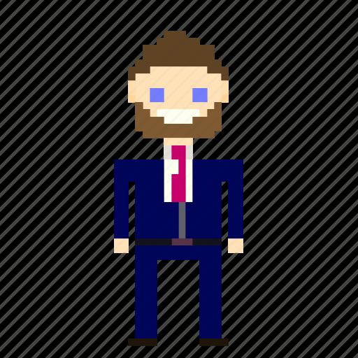 Account, business, businessman, man, person, pixels, suit icon - Download on Iconfinder