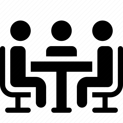 chair, discussion, metting, people, planning, sit, talk icon
