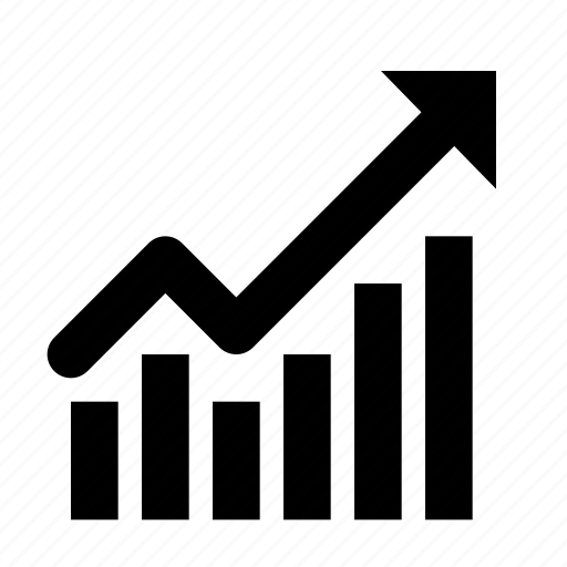 analysis, chart, development, growth, increase, line, success icon