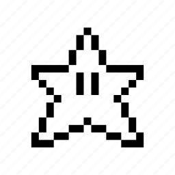 emoticon, pixel art, star icon