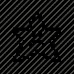 emoticon, pixel art, sad, star icon