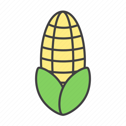 corn, food, ingredients, pizza topping icon