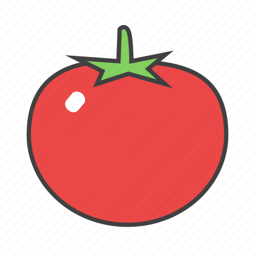 food, ingredients, pizza topping, tomato icon