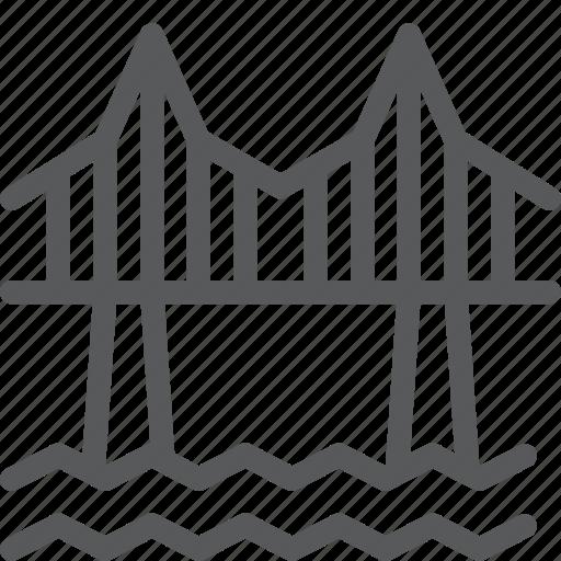 architecture, bridge, city, cross, monument, passage, river, road icon