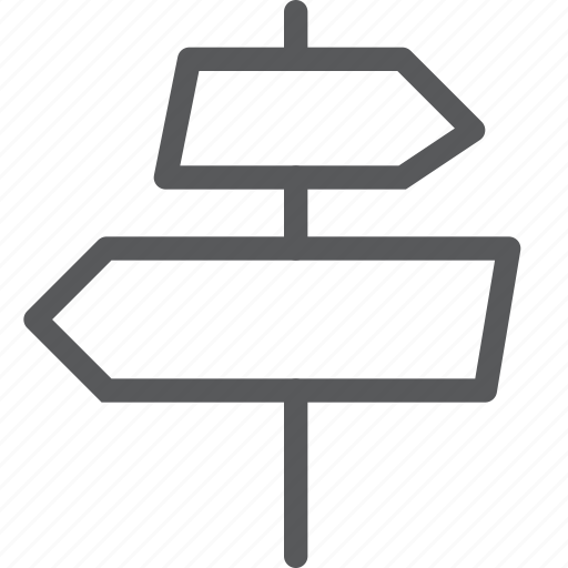 arrow, direction, map, move, navigation, sign icon