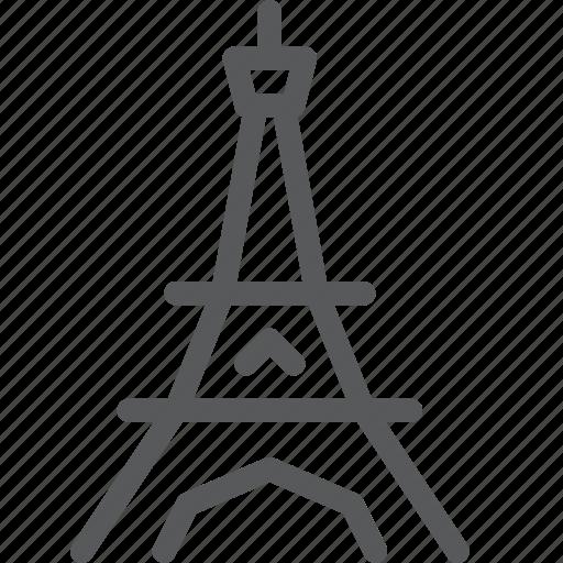 architecture, city, eiffel, famous, france, paris, place, tower icon