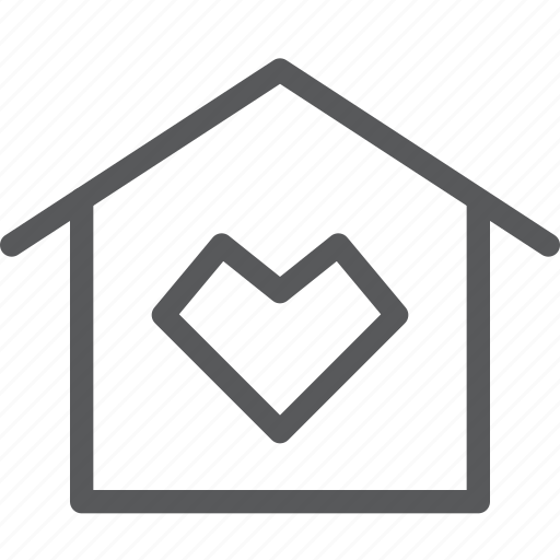 apartment, estate, favorite, heart, home, house, save icon
