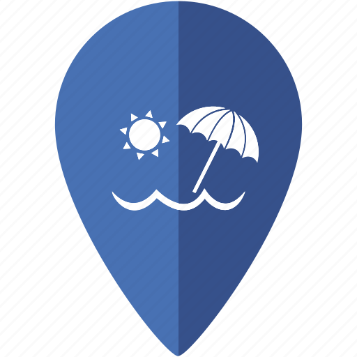 Beach, location, marker, nature, ocean, place, sea icon - Download on Iconfinder