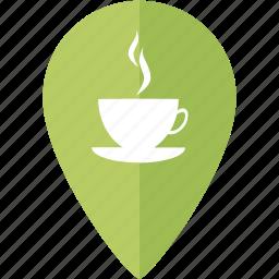 coffe, fika, friends, location, marker, place icon