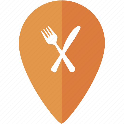 eat, food, fork, location, marker, place, restaurant icon