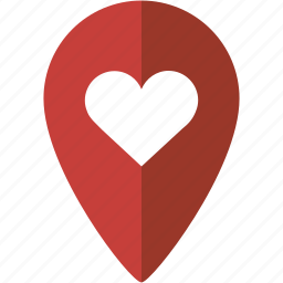 heart, location, love, marker, place icon