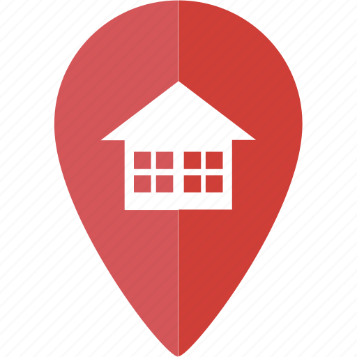 apartment, home, house, location, marker, place icon
