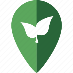 eco, leaf, location, marker, nature, place icon