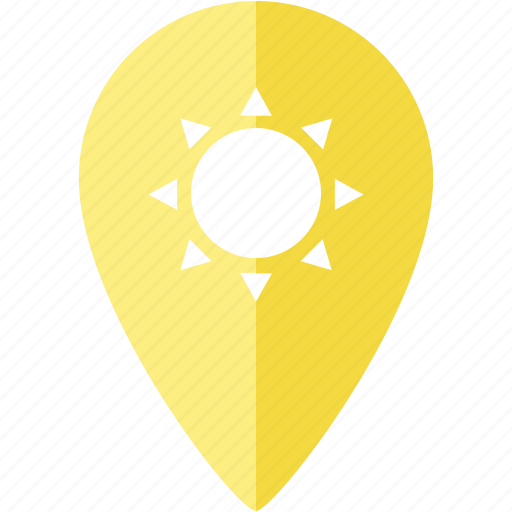location, marker, place, relax, sun, sunny, vacation icon