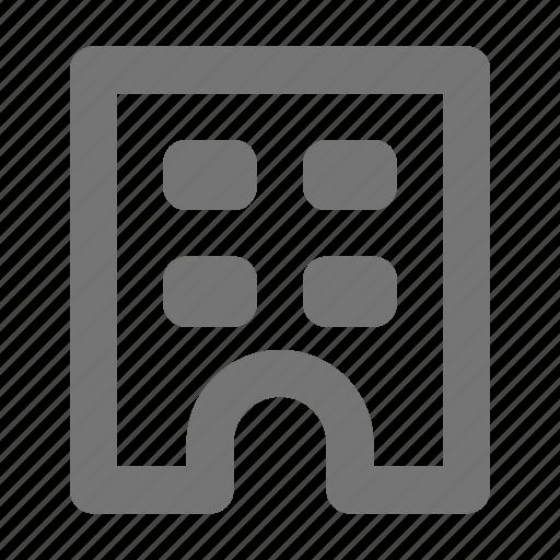 apartment, building icon