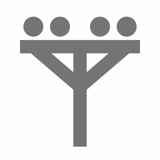electricity, light, location, pole, power icon