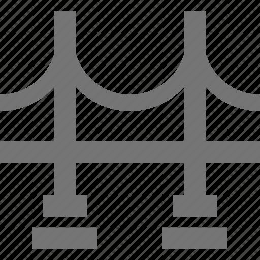 architecture, bridge, connect, cross, golden gate, landmark, location icon
