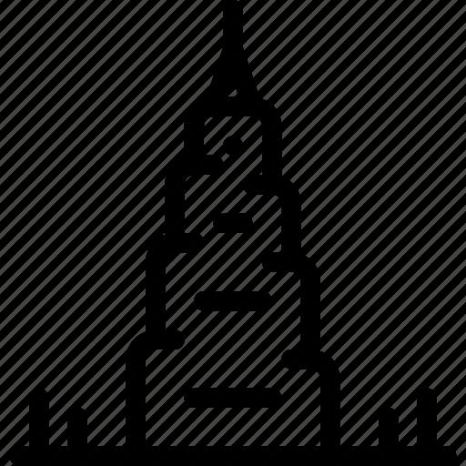 building, burj, dubai, khalifa, place icon