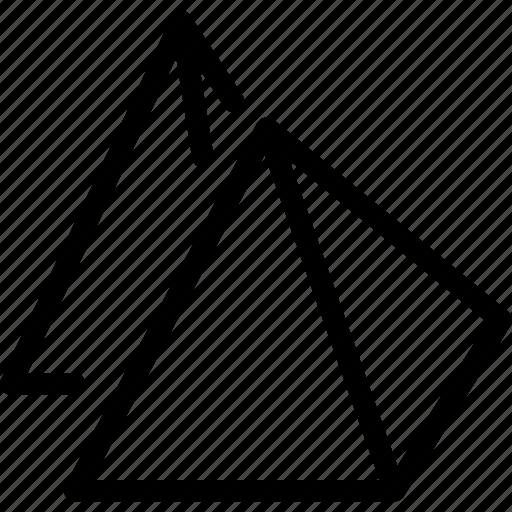 building, egypt, egyptian, place, pyramid icon