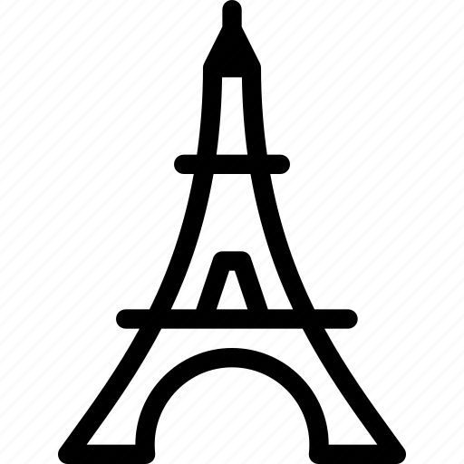 building, eiffel, place, tour, tower icon