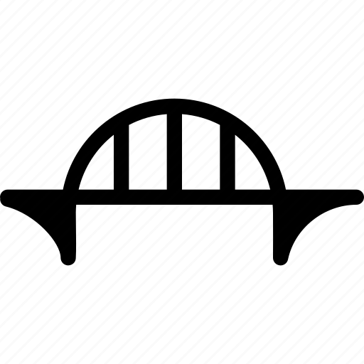 architecture, bridge, building, construction, road icon