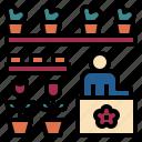 cactus, florist, flower, hobby, place, plant, shop icon